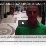 3. LA GRANDE DISCOVERY . Brogliacci Cecchignola con audio e video. LA VERSIONE CONCLUSIVA