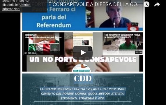 NO FORTE E CONSAPEVOLE A DIFESA DELLA COSTITUZIONE PLURALISTA PER  RICOSTRUIRE DAL GIORNO DOPO DEMOCRAZIA E LEGALITA'
