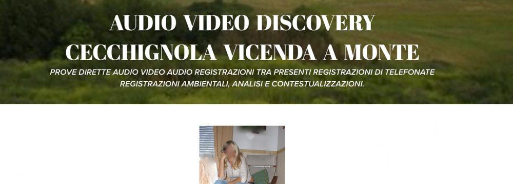 AUDIO VIDEO DISCOVERY CECCHIGNOLA VICENDA A MONTE. LA PSICO SETTA MILITARE A NUDO E LA GRANDEDISCOVERY