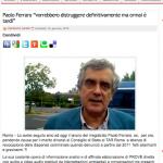 """Paolo Ferraro """"vorrebbero distruggere  e smantellare  ma ormai è tardi"""""""